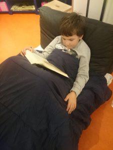 slapen in De Nieuwe Boekhandel