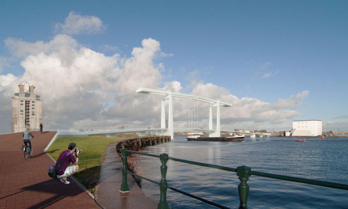 Ontwerp nieuwe magere brug dicht