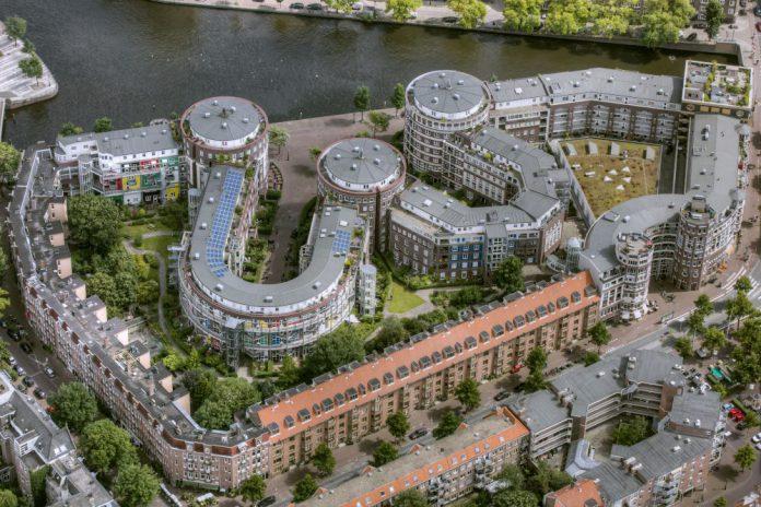 meander complex, Van Hallstraat, Staatsliedenbuurt, Westerpark