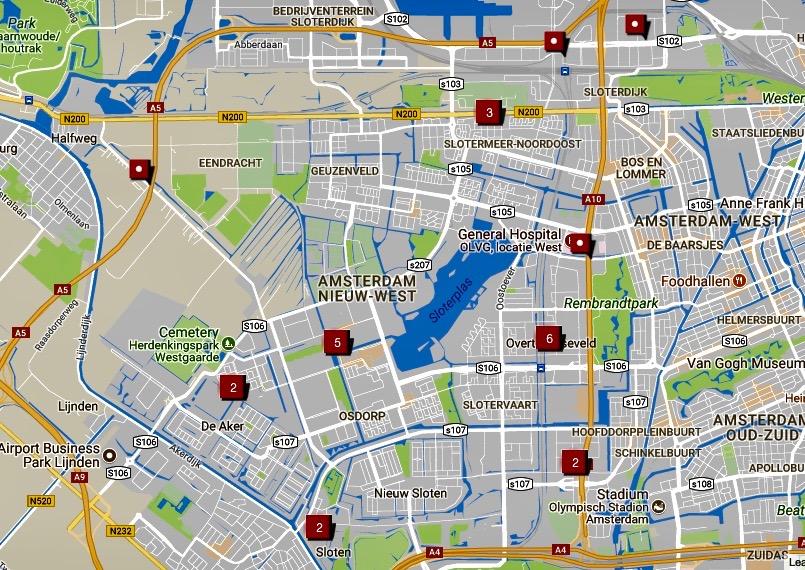 Kaart Met Grootste Verkeers En Bouwhinder Nieuw West Nieuws